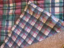 VTG REVERSIBLE Wamsutta Tyler Plaid Hunter Twin Comforter Burgundy Green Blue