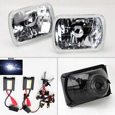 """7X6"""" 8K HID Xenon H4 Crystal Clear Glass Headlight Conversion Pair RH LH Plym"""