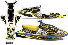 SIKSPAK Yamaha Wave Raider Jet Ski Decals Graphics Kit Wrap 94-96 REBIRTH YELLOW