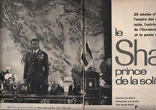 Coupure de presse Clipping 1959 Le Shah d Iran Prince de la solitude  (20 pages)