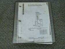 Raymond EASi Reach Order Picker Forklift Shop Service MAINTENANCE Manual 1997