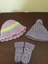Infant Gitls Winter Hat And Gloves