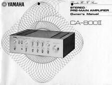 Yamaha CA-800 II Amplifier Owners Manual