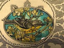 Joan Baker Design Flowers & Bird Suncatcher Sun Catcher