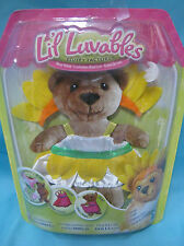 Lil Luvables Fluffy Factory Bear Outfit - Flower Bears - Sunflower