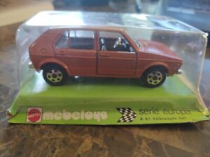 Mebetoys Mattel Italy A87 Volkswagen Golf 1976 Mint Boxed 1/43 Scale