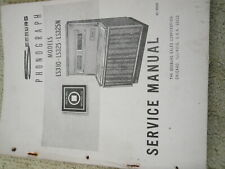 Seeburg jukebox  machine manual paperwork LS310 LS325 LS325N