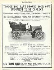 1904 Thomas Flyer Tonneau Original Advertisement, BUFFALO, NEW YORK