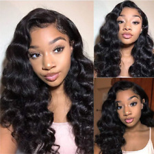Bly Loose Deep Wave Lace Front Wigs Human Hair With Baby Hair Brazilian Virgin H