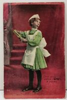 Girl with Castor Oil, This will Keep Jack Going 1910 Little Falls KY Postcard F3