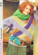 FLASH STRIPE knitting pattern, sweater- Marshall Cavendish pamphlet CK3