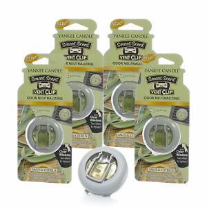 Yankee Candle Car Freshener Smart-Scent Vent Clips, 4-PACK (Sage & Citrus)