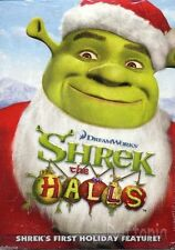 Shrek the Halls Puss & Boots TY beanie baby and dvd's -NIB..