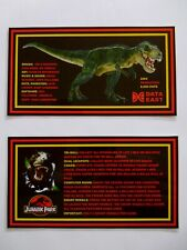 * 'JURASSIC PARK' Data East 1993 Custom Instruction/Apron Cards * (New)