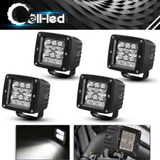 4X 3inch LED Work Light Driving Cube Pods Spot For ATV Jeep 3X3 Reverse Offroad