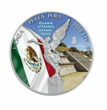 Mexico - 1 Onza 2018 Pyramid of Cholula - Colored edition 1 oz - Silver 0.9999