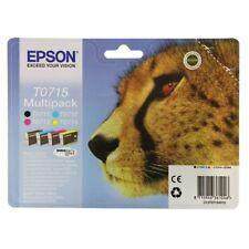 Genuine unused original Epson T0715,Black,Cyan,Magenta and Yellow. 4 pack