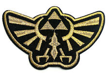 Legend of Zelda Hyrule gold crest embroidered iron on patch