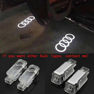 2X For Audi Logo LED Laser Projector Door Welcome Ghost Courtesy Puddle Lights -