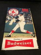 1980 Boston Red Sox Baseball Pocket Schedule Budweiser Version Fred Lynn