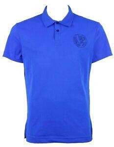 Versace Jeans logo polo blue