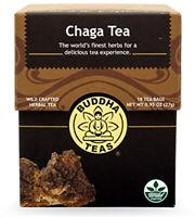 Chaga Tea by Buddha Teas, 18 tea bag 1 pack