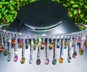 Diamond necklace ZYDO Italian 18k GOLD 81.77ct Diamond Sapphire Necklace CHOKER