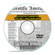 Scientific American, 570 Back Issues, 1845-1856, Science, Patents, PDF DVD F38