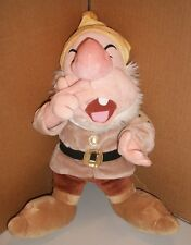 "SNOW WHITE AND THE SEVEN DWARFS SNEEZY DISNEY STORE EXCLUSIVE 16"" PLUSH TOY CUTE"