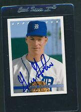 1993 Upper Deck #685 Greg Gohr Tigers Signed Auto *D1061