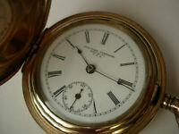 NYS  WCo 14k G.P. pocket watch USA made just full serviced, running excellent