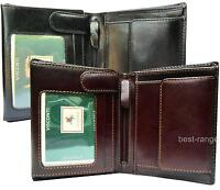 Mens Wallet Quality Real Leather Black or Brown Visconti New in Gift Box MZ3