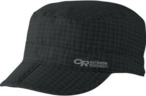 Outdoor Research Unisex 247370 Black Check Radar Pocket Cap Size M
