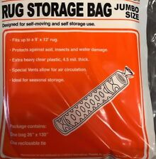 NEW  RUG Storage Bag JUMBO Size Up to 9' x 12' Rug HEAVY CLEAR PLASTIC ShipsFast