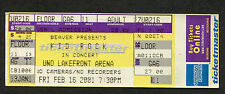 Kid Rock 2001 unused full concert ticket New Orleans Devil Without a Cause