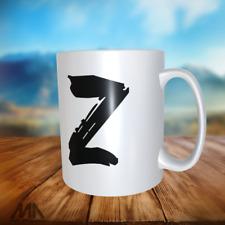 "ALPHABET LETTER -TEA/ COFFE MUGS - letter "" Z "" - perfect gift"