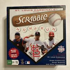 Scrabble St Louis Cardinals Edition Crossword Game MLB Baseball Tiles, Complete!