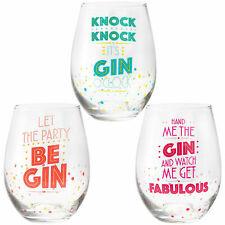 048b63e6fcd NOVELTY STEMLESS GIN DRINKING GLASS TUMBLER NEW IN GIFT BOX