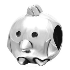 Chicken Charm Bead 925 Sterling Silver