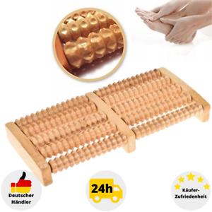 Fußmassageroller Fußmassagegerät Holz Fußroller Massagerät Holzroller Wellness