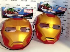 Marvel Iron Man Halloween Mask Durable Thick Plastic w/Extra Thick Head Strap