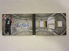 2014 Topps Five Star Football Four Piece Signature Book Card Blake Bortles 02/49