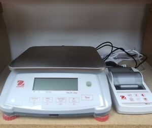 Ohaus Valor 7000 Scales with SF40A Printer - Industrial/Kitchen/Home/Counting