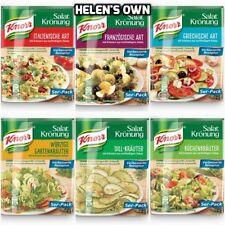 Mezcla de aderezo para ensaladas hierba Knorr ** ** 6 Sobres surtidos Paquete de degustación Free UK POST!