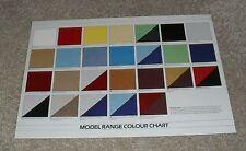 Toyota Colour Guide Flyer 1985 2.8i Celica Supra RA61 Camry Land Cruiser Starlet