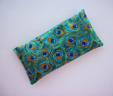 Aromatherapy Eye Pillow - Flax Seed & Lavender - peacock  - yoga