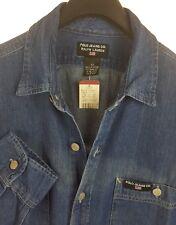 RALPH LAUREN Mens Blue Denim LS Button-Down Shirt Medium M *NEW*