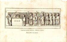 Stampa antica MILANO PROCESSIONE dell'IDEA in DUOMO 1854 Old antique print