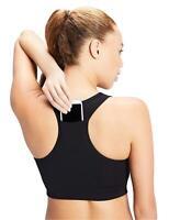 Core 10 Women's Plus Size Longline Pocket Sports Bra, Black, 3X, Black, Size 3.0