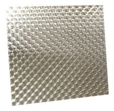 "11"" x 13""   Engine Turned Aluminum Sheet Metal - Swirled Panel"